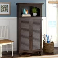 Locking Computer Armoire Desk Armoires You Ll Wayfair