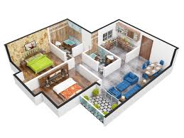 floor plan in 3d unimark springfield in rajarhat kolkata price location map