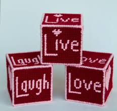 Live Laugh And Love by Plastic Canvas Live Love And Laugh Blocks Plastic Canvas Kits Com
