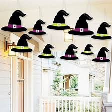 Halloween Witch Outdoor Decorations by Hanging Witch Hats Outdoor Halloween Hanging Porch U0026 Tree Yard