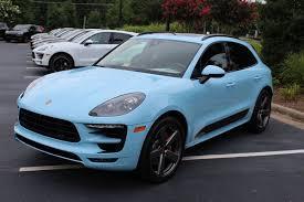 Porsche Macan Blue - dealer inventory 2017 macan gts paint to sample gulf blue