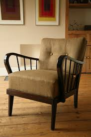 1950s lounge chair cream and chrome