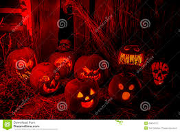 halloween skull pumpkin background lighted halloween pumpkins with candles stock photo image 45834723