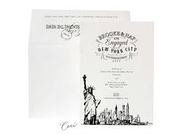 wedding invitations new york statue of liberty themed wedding invitations new york city