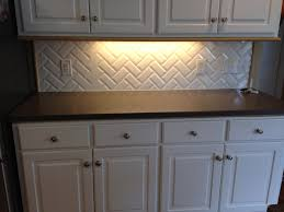 White Subway Tile Kitchen Backsplash Kitchen Style White Cabinets And Chrome Knobs Contemporary White