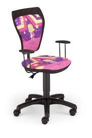 Snille Swivel Chair Kids Childrens Superstar Pop Star Pink Girls Computer Bedroom Desk