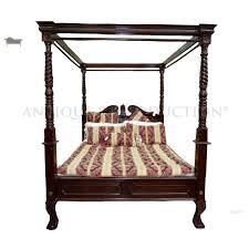 4 poster bed queen size chippendale antique reproduction shop