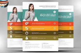 flat style web agency flyer template flyer templates creative