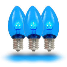 Led Blue Light Bulb by Blue Led Christmas Lights Novelty Lights Inc