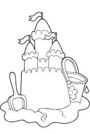Beautiful Sand Castle Picture Coloring Page Download Print Sandcastle Coloring Page