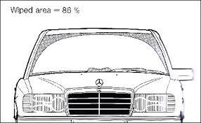 mercedes windshield wiper technical curiosities mercedes monoblade wiper spannerhead