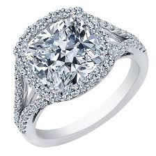 engagement rings cut images 1 00 carat center cushion cut diamond halo engagement ring jpeg