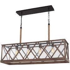 Murray Feiss Island Lighting Feiss Lumiere 4 Light Weathered Oak Rubbed Bronze
