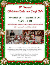 catholic diocese of peoria christmas bake and craft sale