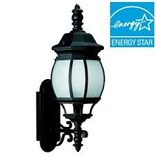 Seagull Lighting Fixtures by Sea Gull Lighting Wynfield 1 Light Black Outdoor Wall Fixture