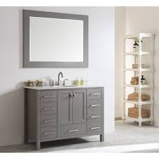eviva aberdeen 48 inch transitional grey bathroom vanity with