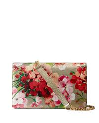 bloom wallet gucci metallic leather blooms chain wallet gold neiman