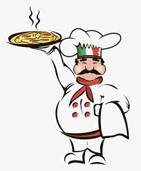 cuisine clipart chef holding a pizza cuisine italy pizza