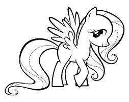 coloring page pony my pony fluttershy coloring page print