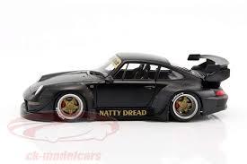 porsche 911 model cars ck modelcars 78154 porsche 911 993 rwb frosted black 1 18