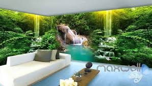 wallpaper for entire wall 3d waterfall pond fish entire living room bedroom wallpaper wall