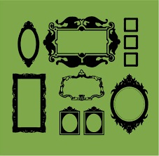 baroque frames wall decals trading phrases baroque frames wall decal view detailed images 1