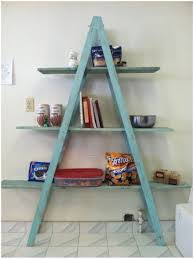 Leaning Bookcase Ikea Countryside Atmosphere With Rustic Ladder Shelf Design U2013 Modern