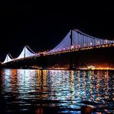 Bay Bridge Light Show The Bay Bridge Gets Its Glow On Bridge And Bridges