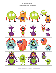 Halloween Printables For Preschoolers by Free Preschool Printables Little Monster U0027s Printable Monstres