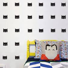 online get cheap batman wallpaper for walls aliexpress com 20heads super hero batman mask removable wall stickers for kids rooms home decor diy child wallpaper