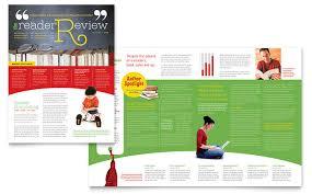 bookstore u0026 library newsletter template design