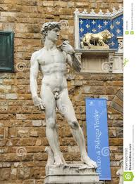 statue of michelangelo u0027s david near the museum palazzo vecchio