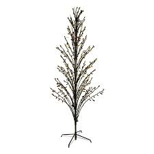 shop northlight 4 ft pre lit twig slim artificial tree