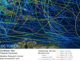 Caribbean Weather Map by Global Tropical Cyclone Atlasweather Research Center April 2016
