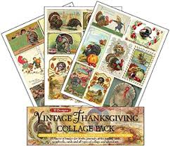 vintage thanksgiving collage pack tj designs by tweetyjill