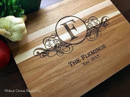 monogramed cutting board personalized monogram cutting board butcher block