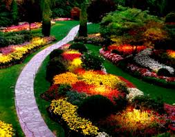 architectures traditional landscape design with flower front