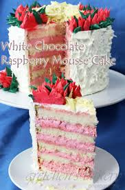 white chocolate cake recipe with raspberry mousse filling cake