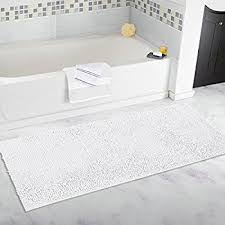 Bathroom Rugs And Mats Amazon Com K Mat 32x47 Inch Large Luxury White Bath Mat Soft