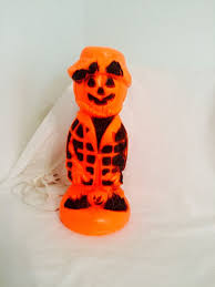 vintage halloween scarecrow pumpkin man halloween blow mold