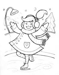 kids ice skating coloring pages many interesting cliparts