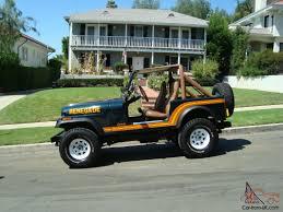 tan jeep renegade jeep cj 7 renegade original paint low mileage gorgeous southern