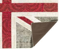 British Flag Area Rug Union Jack Design Patchwork Rug Made From Distressed Vintage