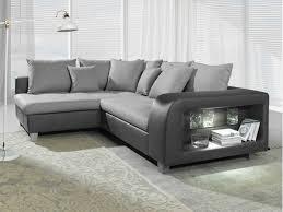 canapé d angle convertible gris anthracite canapé d angle convertible tissu et simili chiara avecled bicolore