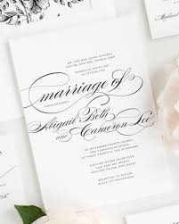 beautiful wedding invitations beautiful wedding invitation in black and white with script