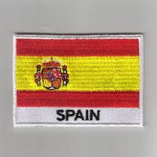 Spain Flags Embroidered Patches Country Flag Spain Patches Iron On Badges