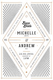 Art Deco Wedding Art Deco Wedding Invitation Card By Guuver Graphicriver