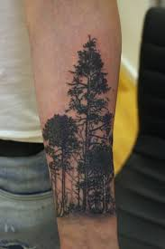 Mens Tattoo Cover Up Ideas Forest Tattoo On Man Left Arm Tattoos Pinterest Forest