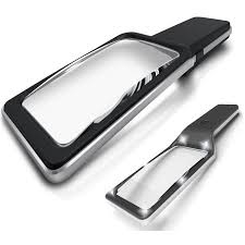 large magnifying glass with light magnipros 3x large wide horizontal handheld magnifying glass with 6