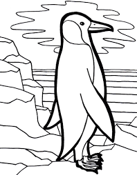 awesome christmas penguin coloring pages gallery coloring page